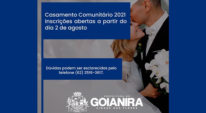 Prefeitura de Goianira abre inscrição para Casamento Comunitário
